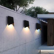 Светодиодная Водонепроницаемая настенная лампа современный алюминиевый