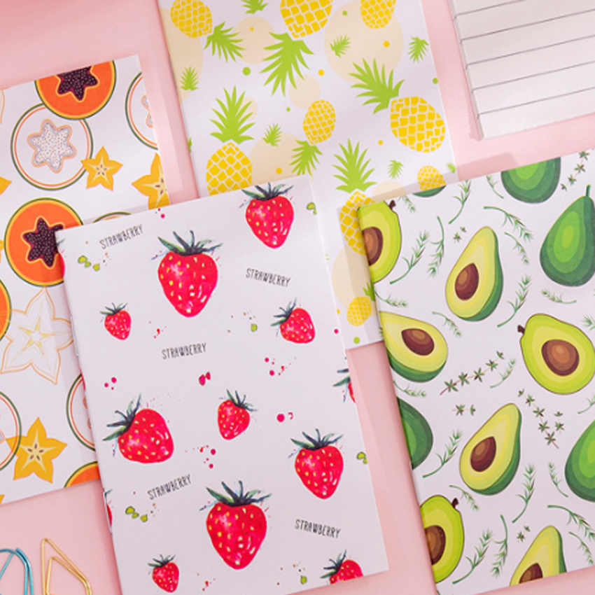 4pack/lot Small Fresh Series Six Design Korea Creative For Kids Stationery Diary Notebook Office Planner Diaries