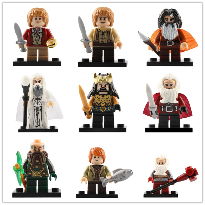 Legoed The Lord Of The Rings Action Minifigured Bain Balin Thorin Bilbo Models Building Block Figures Children Gifts Toys