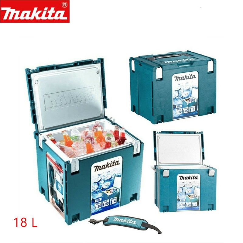 Makita MAKPAC Cool Box Connector Freezer 199846-0 198253-4 Type 4 18 Litres + Strap Tool Case Systainer