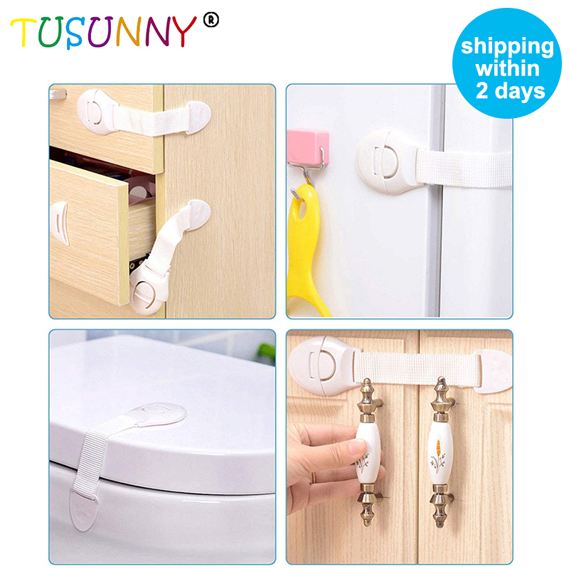 TUSUNNY 2 Pc/4 Pc/5 Pc/8 Pc Child Lock Protection  Safety Kids  Plastic  Against Electric Shock  Door Stop Anti-collision Corner