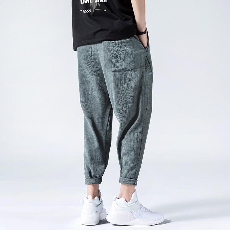 Summer Thin Ice Silk Casual Pants Men Fashion Hip Hop Loose Plus Size Quick Drying Pants Mens Clothing Harajuku Harem Pants Male 3