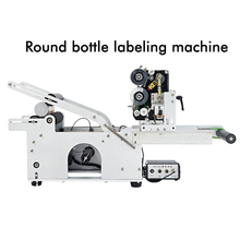 round bottle labeling with a coding machine round bottle labeling machine 110/220V