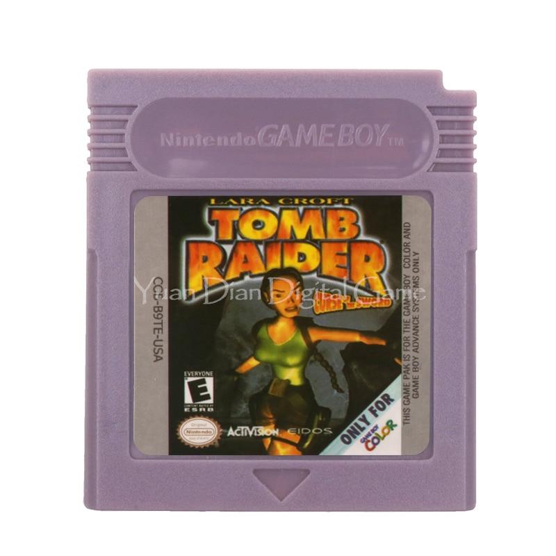 For Nintendo GBC Video Game Cartridge Console Card Lara Croft Tomb Raider English Language Version 1