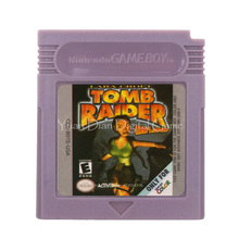 Nintendo GBC Video oyunu kartuşu konsolu kart Lara Croft Tomb Raider İngilizce dil sürüm