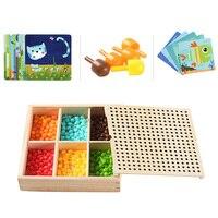 240 шт 3d гриб ногтей умная головоломка игры мозаика колышек доска головоломка Дети Diy Развивающие детские игрушки смешная игра