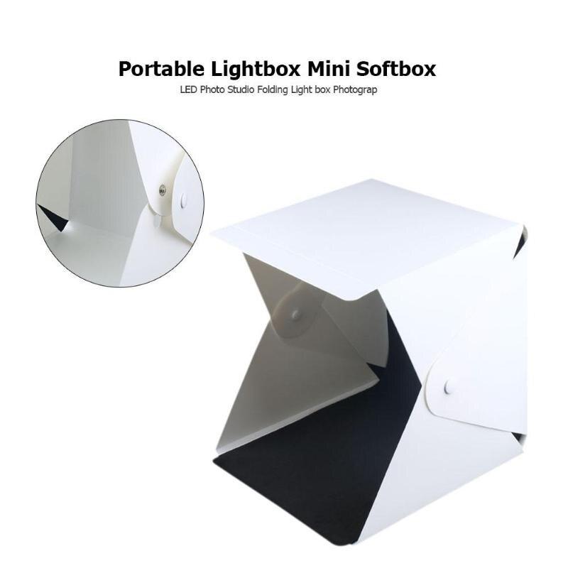 Portable Lightbox Mini Softbox LED Photo Studio Folding Light Box Photography Backgound for DSLR Camera Accessories 20x20x20cm|Tabletop Shooting| |  - title=