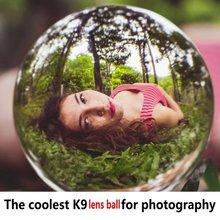 Bola de cristal transparente Artificial, fondo curativo mágico, globo de fotografía, decoración artesanal para el hogar, accesorio de lente