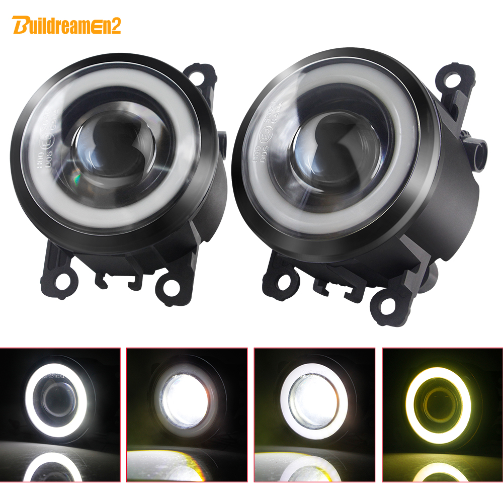 2 X LED Fog <font><b>Light</b></font> with Angel Eye Car Front Fog Lamp 12V For <font><b>Ford</b></font> <font><b>Focus</b></font> Fiesta Ranger C-Max Transit Edge Fusion EcoSport Tourneo image