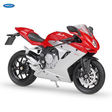 WELLY 1:18   MV Agusta F3 800     Diecast Alloy Motorcycle Model Toy For Children Birthday Gift Toys Collection welly 1 18 yamaha yp240dx diecast alloy motorcycle model toy for children birthday gift toys collection