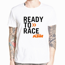 Top Summer KTM Ready To Race T-Shirt Biker Motorcycle Rider Cotton Short Sleeve T shirt Camisetas Hombre Tee shirt homme(China)