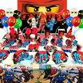 Legoing в масках ниндзя тема вечерние украшения бумажный стаканчик, тарелка соломы детские праздничные шары Детские подарки для детей «Суперг...