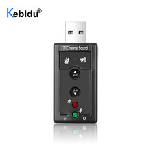 Speaker Audio-Headset Audio-Sound-Card Microphone Jack-Converter Laptop Ch-Channel USB