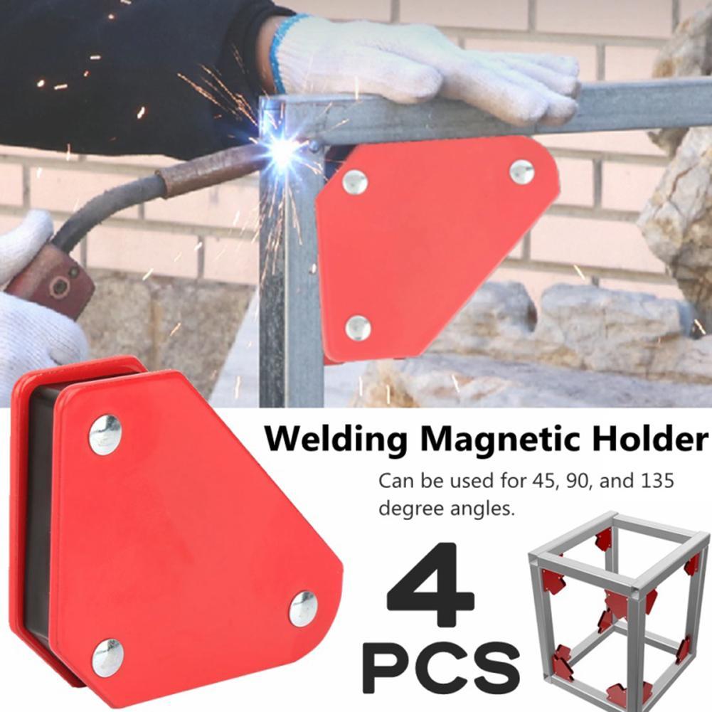 4Pcs 9lb 45/90/135 Welding Locator Magnet Welder Positioner Power Tool Accessories Soldering Fixture Magnetic Welding Holder