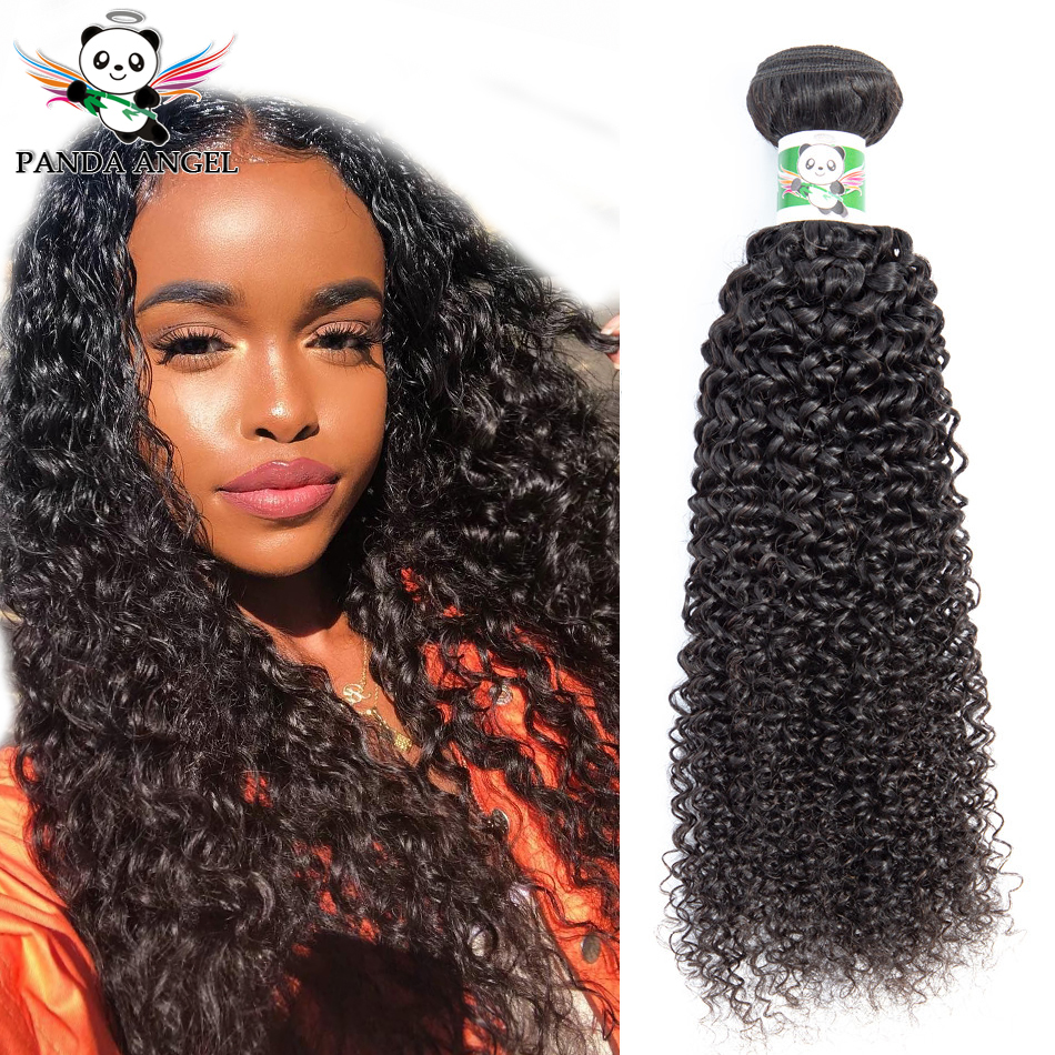 Kinky Curly Human Hair Bundles Weave For Black Women 1/3pcs Brazilian Human Hair Wave Bundles Deal Remy Hair Extensions Panda