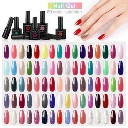 COSCELIA 80 Colors Gel Nail Polish Kit 10ML Soak Off Semi Permanent UV Gel Nail Polish Set Varnish Kit For Manicure Nail Art Set
