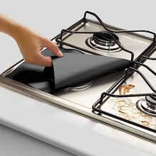 Wholesale 50PC Reusable Gas Stove Cooker Protectors Cover/liner Clean Mat Pad Kitchen Gas Stove Stove Top Protector Kitchen Tool 8 pcs reusable gas stove burner cover protector liner clean mat pad file injuries protection 2