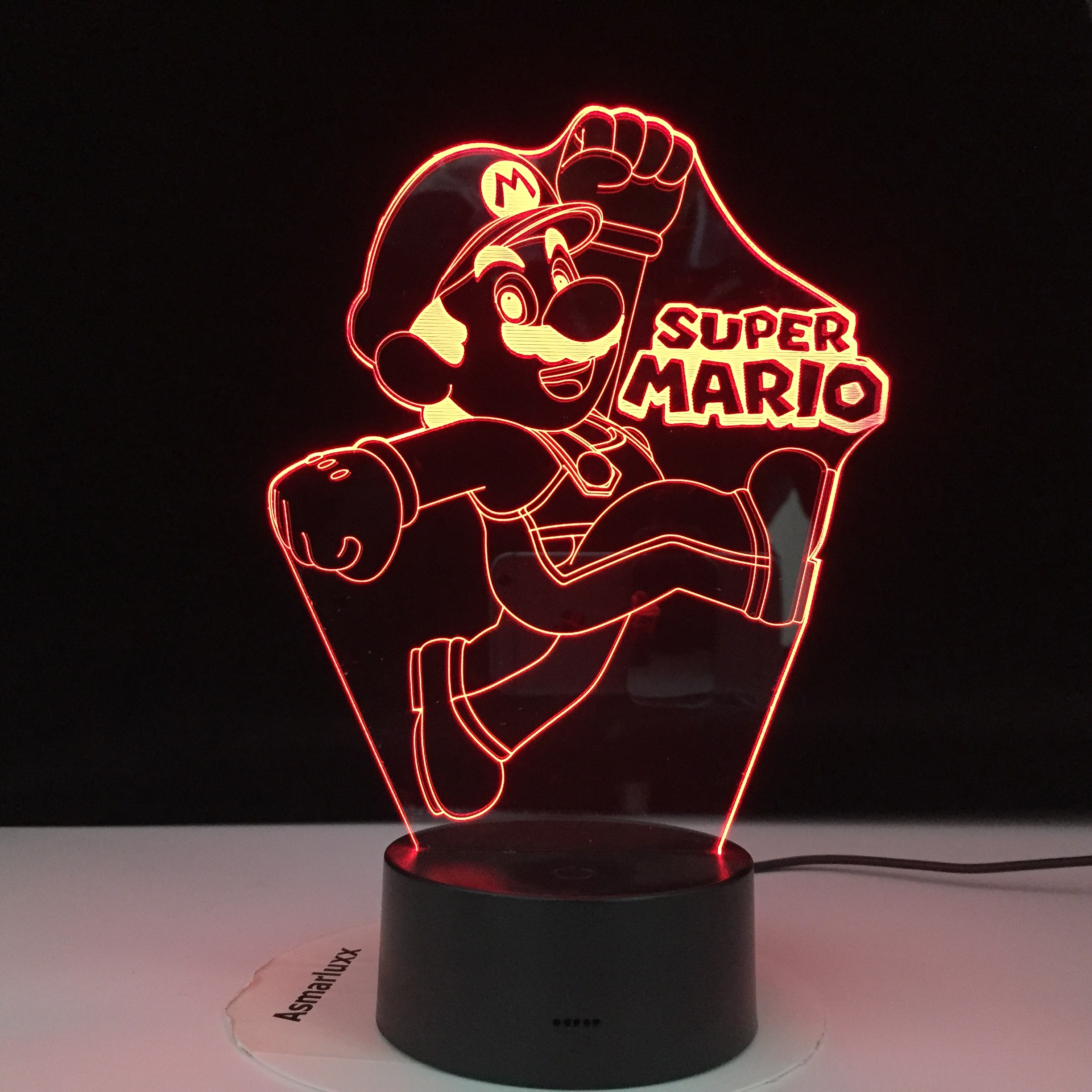 Super Mario Yoshi 3D LED USB Lamp Cartoon Game Figure Baby Lava Table Night Light Child Novelty Gift Home Office Drop Shipping