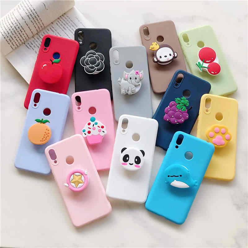 3D Cute Cartoon holder stand Phone Case for Samsung Galaxy J3 J5 J7 2016 2017 J4 J6 2018 prime A5 J2 Pro 2018 Cover Cases Coque
