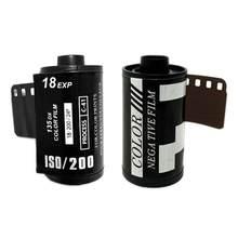 18 pces preto branco negativo câmera filme 35mm câmera 135 cor filme iniciante prática 200 sensibilidade-8 filme 2021 novo