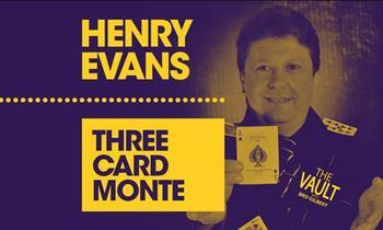 Tres cartas Monte de Henry Evans, trucos de magia-(instrucción de magia)