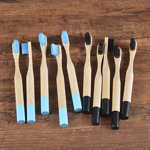Image 3 - Brosse à dents en bambou pour enfants, à poils souples, écologique, biodégradables, soins buccaux, sans plastique, 8 couleurs, 10 pièces