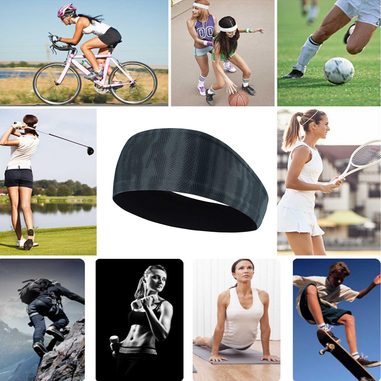 Deporte Fitness Sweatband ciclismo de entrenamiento Yoga diadema gimnasio pañuelo directo banda de pelo de las vendas de la bicicleta de las mujeres de los hombres