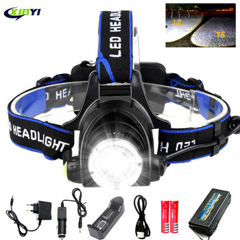 8000lumens Led Headlamp L2/T6 Zoomable Headlight Head Torch Flashlight Head lamp by 18650 battery for Fishing Hunting Headlamps 1