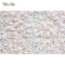Yeele الزفاف زهرة بيضاء حفل جدار Photophone خلفيات للتصوير الفوتوغرافي شخصية خلفيات التصوير الفوتوغرافي لاستوديو الصور