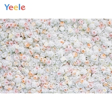 Yeele Wedding White Flower Wall Ceremony Photophone Photography Backdrops Personalized Photographic Backgrounds For Photo Studio