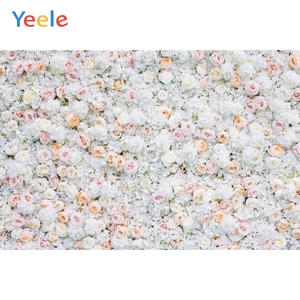 Image 1 - Yeele Wedding White Flower Wall Ceremony Photophone Photography Backdrops Personalized Photographic Backgrounds For Photo Studio