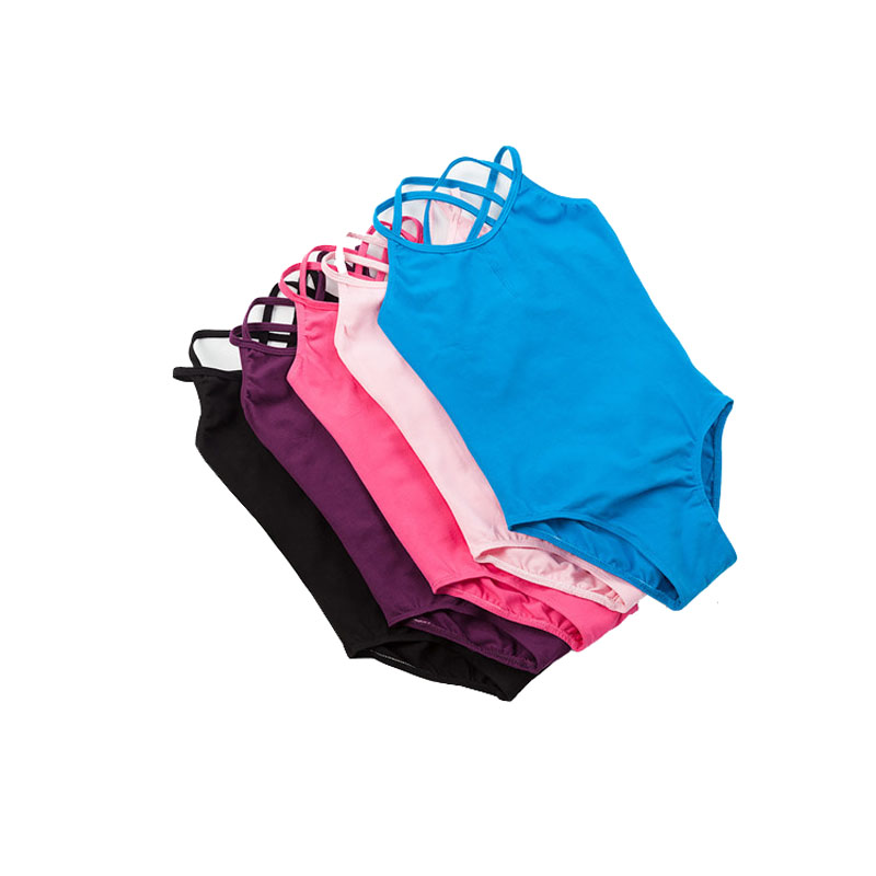 Double Strap Leotards For Girls Camisole Swimsuit For Dancing Gymnastic Leotard Ballet Suit Girl Blackdance Leotards For Kids