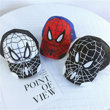 Hats Baseball-Cap Sun-Mesh Spider-Man Kids Summer Hip-Hop Boys Cotton Children Cartoon