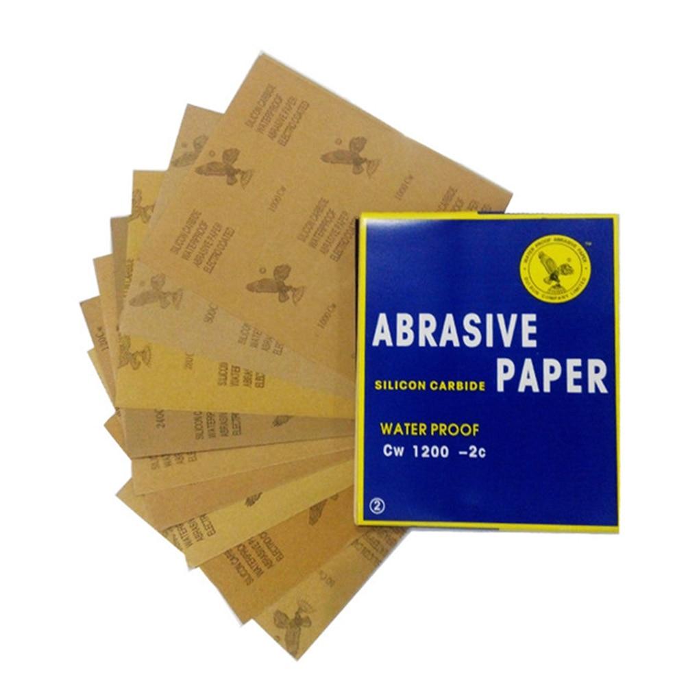 5pcs Superfine Sandpaper Brushed Water Sanding Paper Polishing Grinding Tools Grit 60-1000 1200 1500 2000 Abrasive Paper