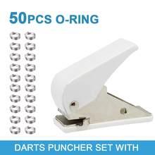 Jeu de poinçons à fléchettes, jeu d'outils de perçage de trou de vol avec anneau de forme ronde à 50pcs fléchettes