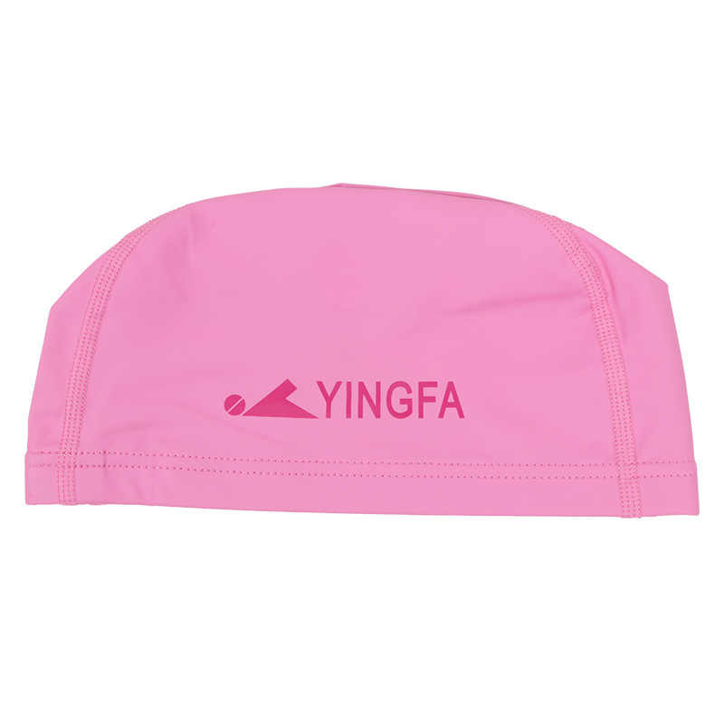 Yingfa Men And Women Swimming Cap Pu Material Upgraded Soft And Comfortable Swimming Cap Durable Earmuff Solid Color C0077