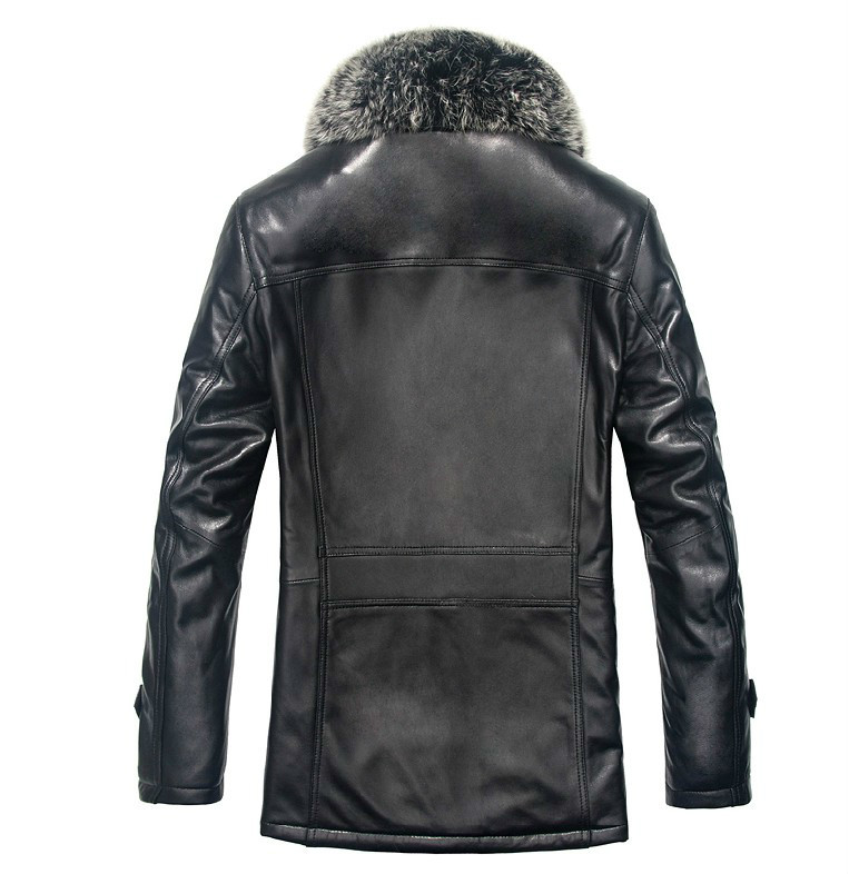 Leather Jacket Genuine Leather Real Sheepskin Coat Men Wool Fur Winter Coat Men Jaqueta De Couro WPKDS01510 YY1359
