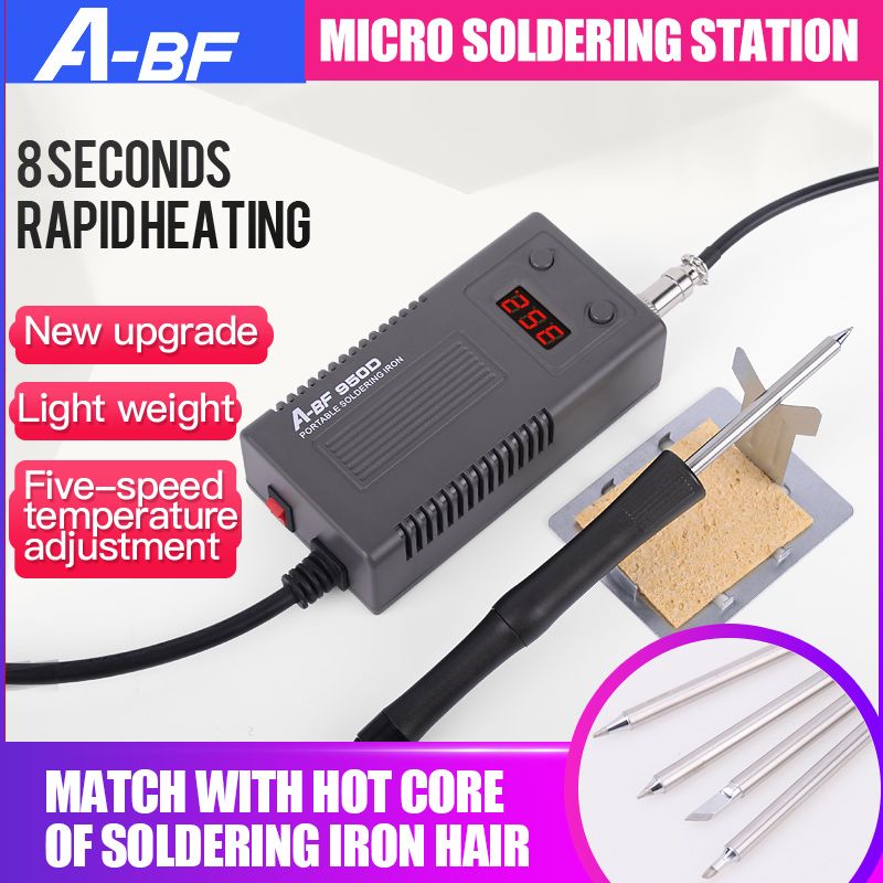 A-BF 950D Micro Soldering Station 50W Mini Intelligent Temperature Adjustable Repair Electric Iron Rework Station Quick Heat Up
