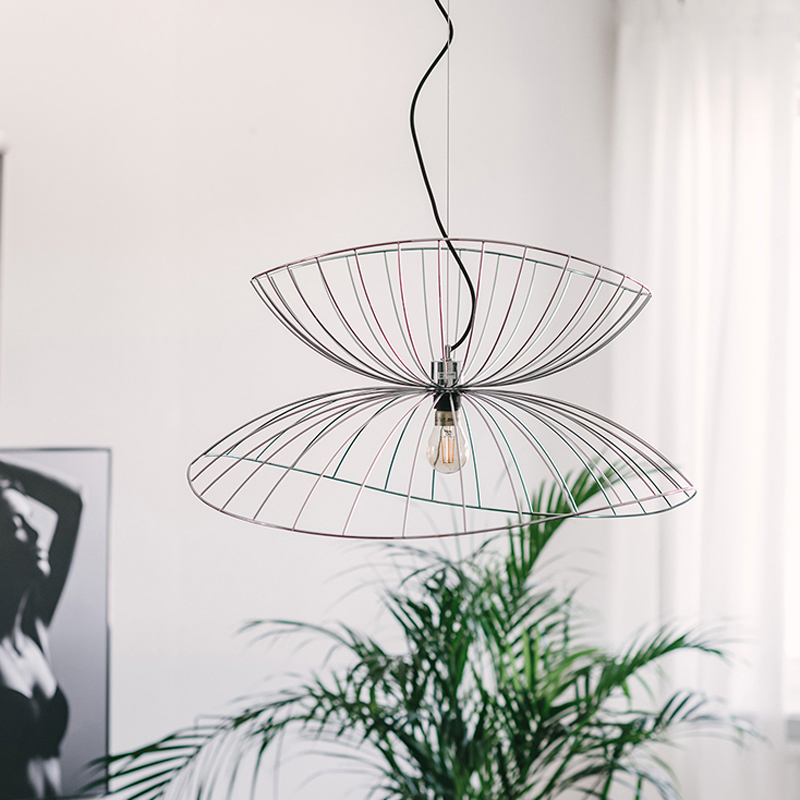 Creative Art Kitchen Pendant Light Gold Silver Black Iron Sconce E27 LED Hanging Suspension Lamp Home Interior Lighting Fixtures