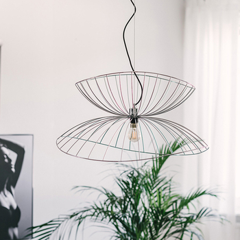 Creative Art Kitchen Pendant Light Gold Silver Black Iron Sconce E27 LED Hanging Suspension Lamp Home Interior Lighting Fixtures kung retro black white silver gold color wrought iron lampashade led pendant light decorative with e27 holder 1 2 meter cable