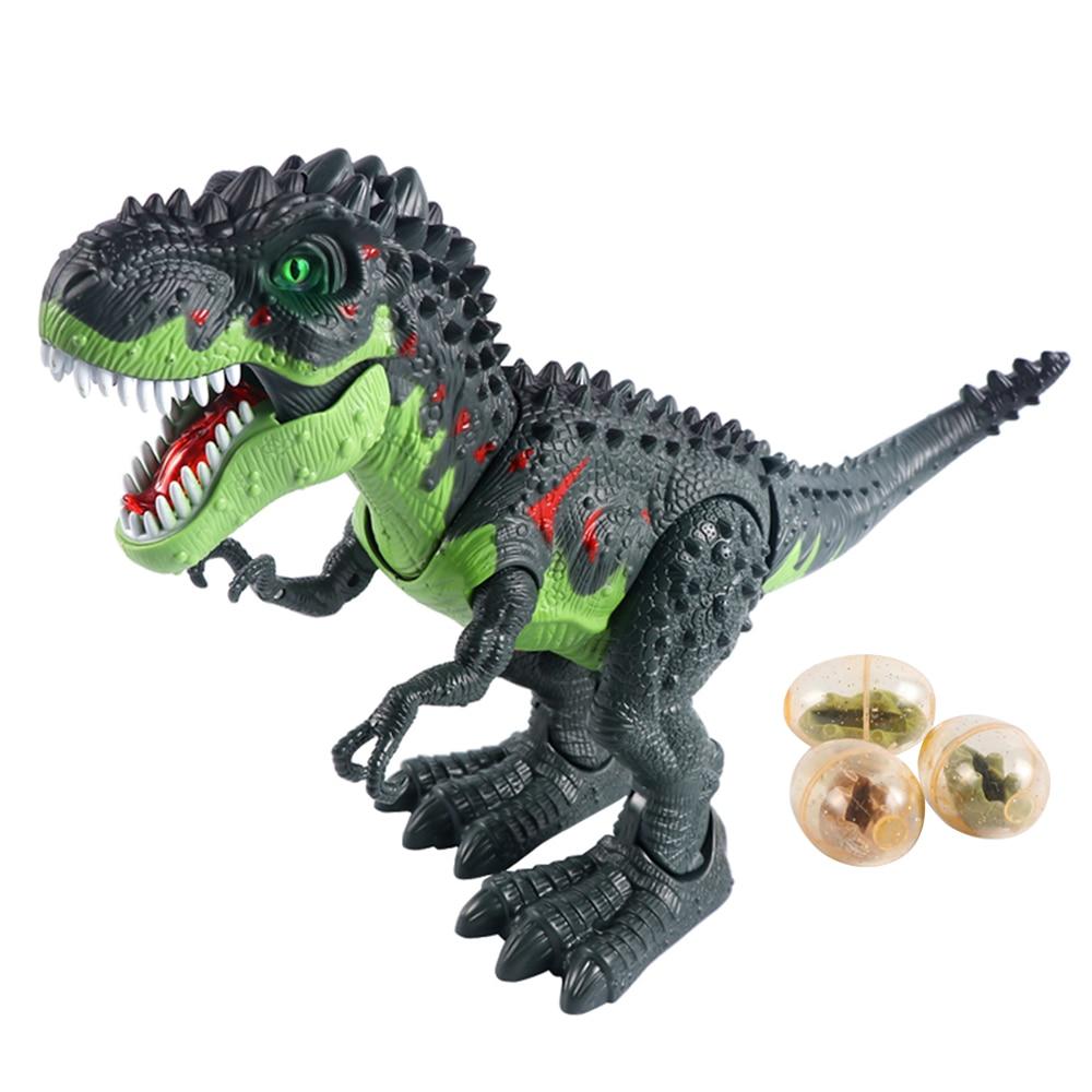 Electronic Dinosaur Model Toy Spray Laying EggsTyrannosaurus Rex Dinosaur Animal Model Toys For Kids Birthday Gifts