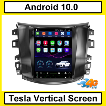 Tesla Vertical screen android 10.0 car gps multimedia radio player in dash for Nissan Navava Terra NP300 car navigation stereo image