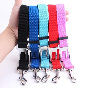 Pet Dog Cat Car Seat Belt Adjustable Harness Seatbelt Lead Leash for Small Medium Dogs Travel Clip Pet Supplies 5 Color 2