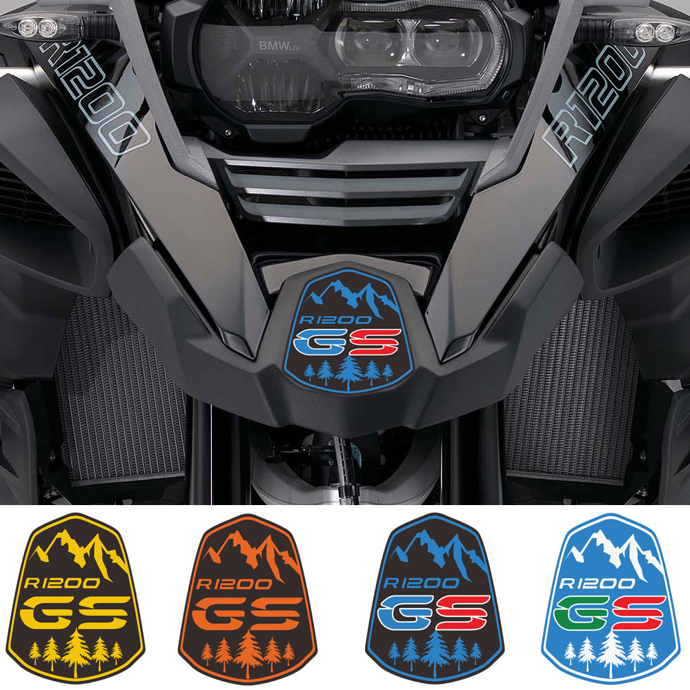 For BMW R1200GS R1200 R 1200 ADV GS Front Fender Beak Extension Cove Windshield Screen Windscreen Motorcycle Stickers Adventure