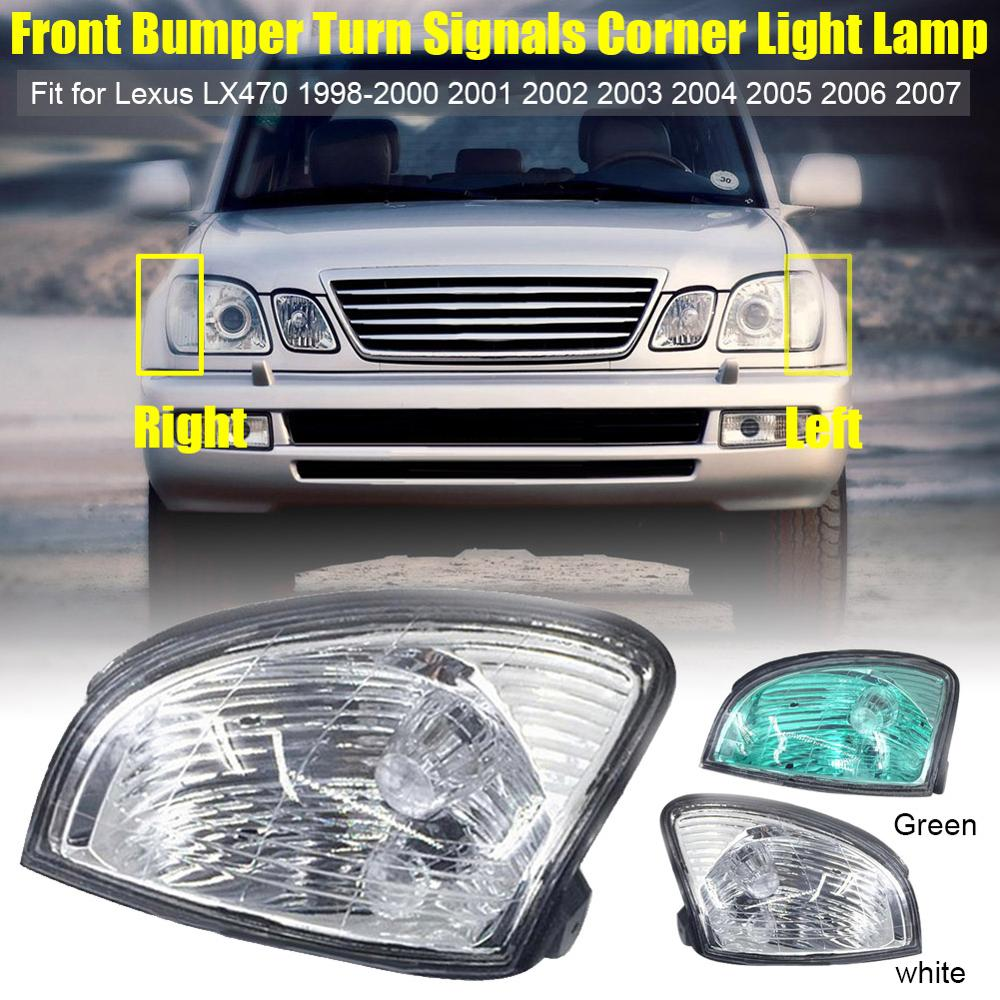 2PCS Fit For Lexus LX470 1998-2000 2001 2002 2003 2004 2005 2006 2007 Front Bumper Turn Signals Corner Light Lamp Dropshipping