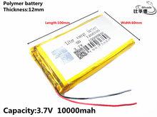 Litro bateria de energia Bom Qulity 3.7 V, 10000mAH 1260100 bateria De Polímero de iões de lítio/BANCO de bateria Li-ion para tablet pc, GPS, mp3, mp4