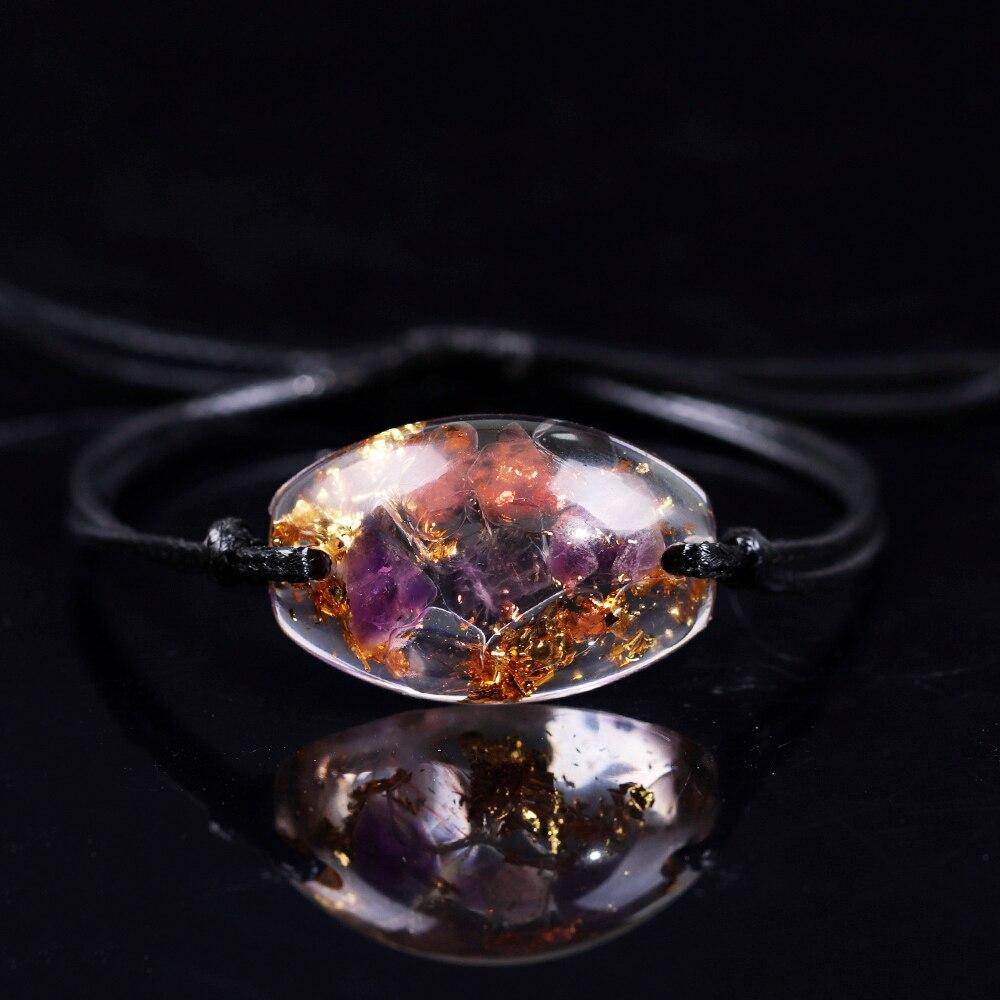 Orgonite Bracelet Smelting Stone Eliminate Eegative Energy Natural Energy Crystal Chamilia Bracelet Energy Converter Reiki(China)