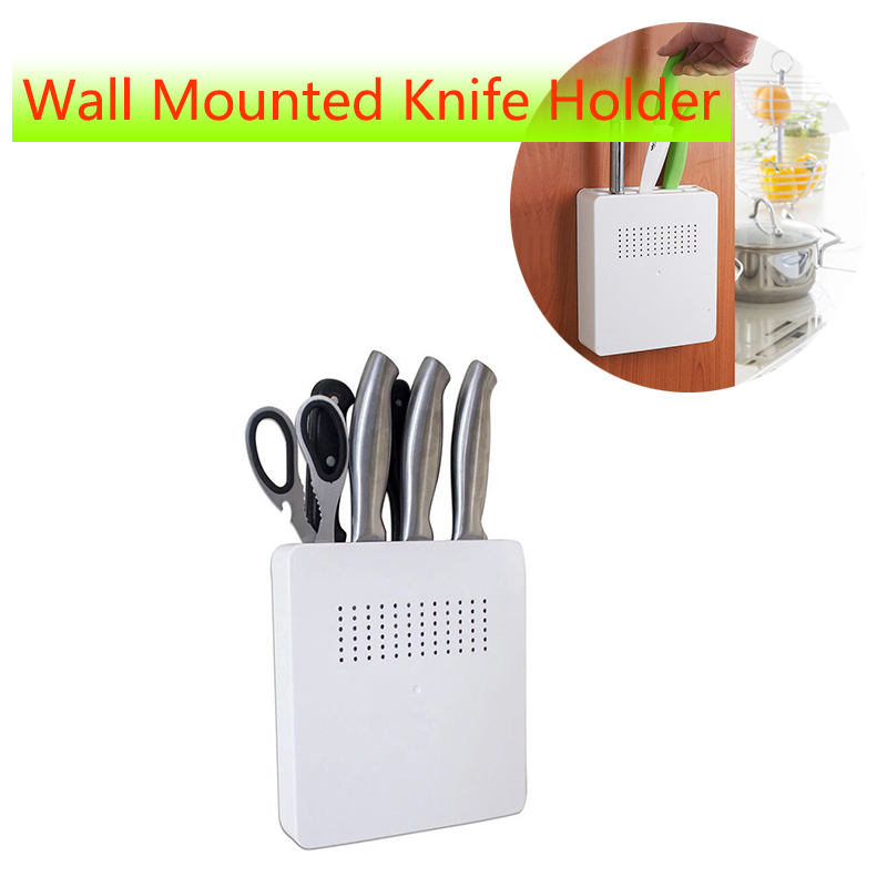 Hole Free Wall Mounted Knife Holder Kitchen Knife Organizer Stands For Knives Knives Block Tool Storage Holder Kitchen Gadget