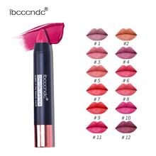 IBCCCNDC matowe szminki wodoodporne matowe szminki kredki pomadki do ust kosmetyczne łatwe w użyciu matowe szminki do makijażu Batom tanie tanio Łatwe do noszenia Lipstick as description CHINA WZBJZ Szminka crayon lipstick matte lipstick 3 5g 1 peice matt lipstick