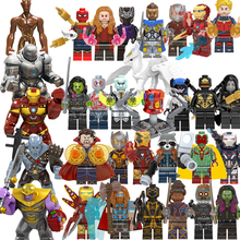 1pcs Avengers Legoed marvel Super Heroes Iron Man Thanos Thor War Machine Captain America Building Blocks toy for chirldren